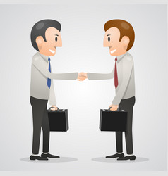 Office man shaking hands vector