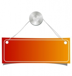 orange label on a nail vector image