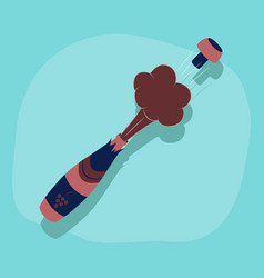 paper sticker on stylish background bottle vector image