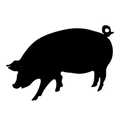 Pig silhouette vector
