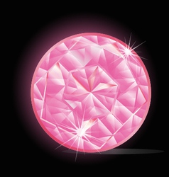 Pink Diamond vector image vector image
