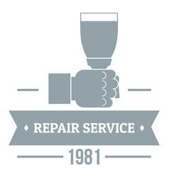 Renovation service logo vintage style vector