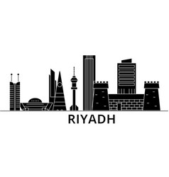riyadh architecture city skyline travel vector image