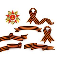Russian georgian ribbons order of patriotic war vector