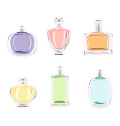 set perfume bottles vector image vector image
