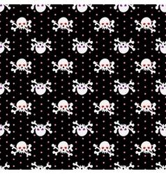 Skulls seamless pattern 5 vector image