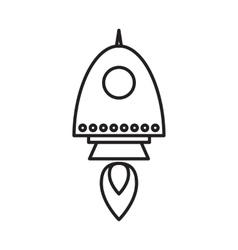 Space rocket icon vector image vector image