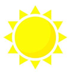 Summer sun icon cartoon style vector