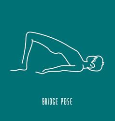 Yoga pose line icon vector