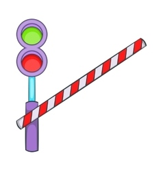 Train barrier icon cartoon style vector