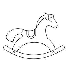 Horse rocking icon outline style vector image