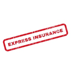 Express insurance text rubber stamp vector
