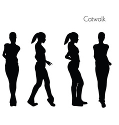 Woman in catwalk pose vector