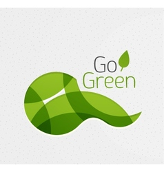Abstract eco green shape vector