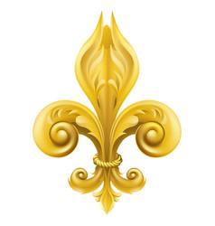 Gold fleur-de-lis design vector