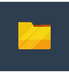 Yellow folder vector