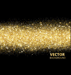 Sparkling glitter border on black festive vector