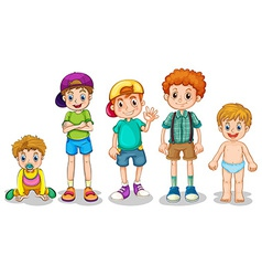 Young boys vector image