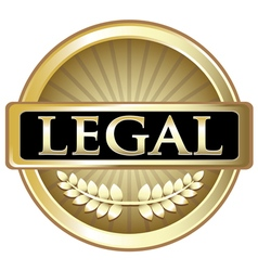 Legal gold label vector