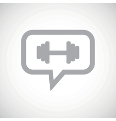Barbell grey message icon vector