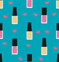 Nail lacquer or nail polish seamless pattern vector