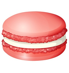 Red color macaron alone vector