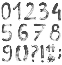 Hand painted numbers vector