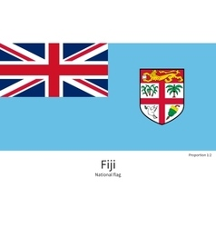 National flag of fiji with correct proportions vector