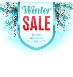 Winter sale banner vector
