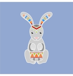 Bunny wearing tribal clothing vector