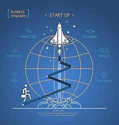 Business start up diagram vector