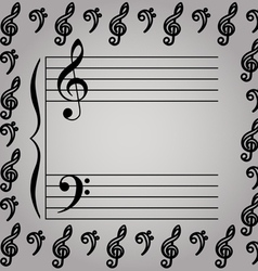 a musical stave vector image vector image