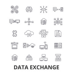 data exchange internet transfer connection vector image