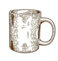 Engraving mug vector