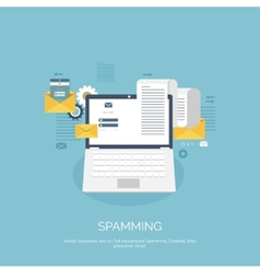 Flat spamming background vector image