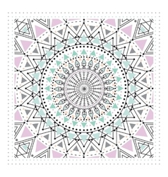 Geometric ornament design modern card vector