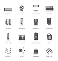 Heating icons vector image vector image