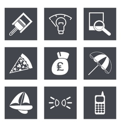 Icons for Web Design set 37 vector image vector image