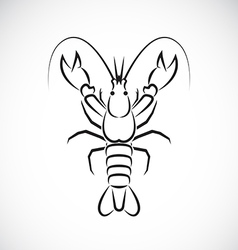 Image of an lobster design vector