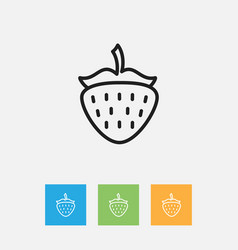 Of kitchenware symbol on berry vector