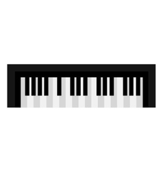 Piano keyboard music instrument icon design vector image vector image