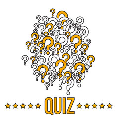 Quiz bannerr template with question marks vector