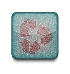 Recycle refresh icon vector