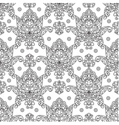 seamless patterns of russian motives of northern vector image