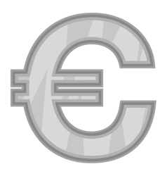 Sign of money euro icon black monochrome style vector image