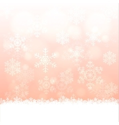 snowflakes and bokeh vector image vector image