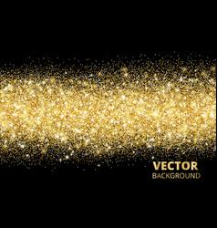 sparkling glitter border on black festive vector image