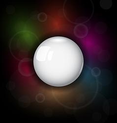 speech bubble on dark background - vector image vector image