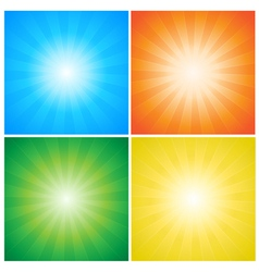 Sunburst rays vector