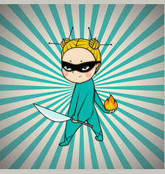 super hero chef of japanese cuisine vector image